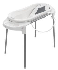 Rotho Babydesign Badeset mit großer Wanne und Funktionsständer