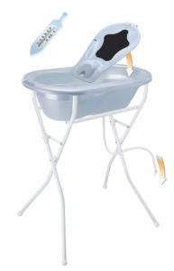 Rotho Babydesign Komplett-Badeset mit Wanne und Klapp-Ständer,